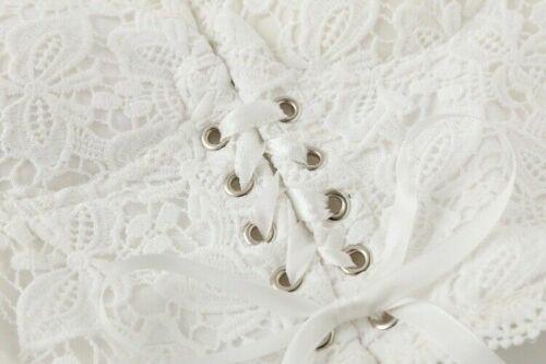 Lady Gothic Vest Lace Up Tank Crop Tops Lace Bandage Camisole Sleeveless Fashion