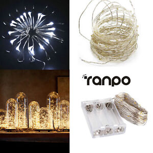 Battery-Powered-20-30-50-100-LED-String-Fairy-Lights-Copper-Wire-Waterproof-DIY
