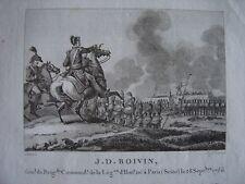 Gravure du Général JD BOIVIN Affaires de Vic Parthenay Neu-Isembourg Mont Tental