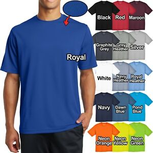 Mens-Micro-Mesh-T-Shirt-Dry-Fit-Moisture-Wicking-Tee-XS-S-M-L-XL-2X-3X-4X