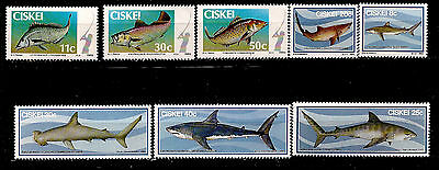 Topical Stamps Peach 28m228a Ciskei 1983/85 Serie 54-58 Fish Seafish Shark Sharks Stamps