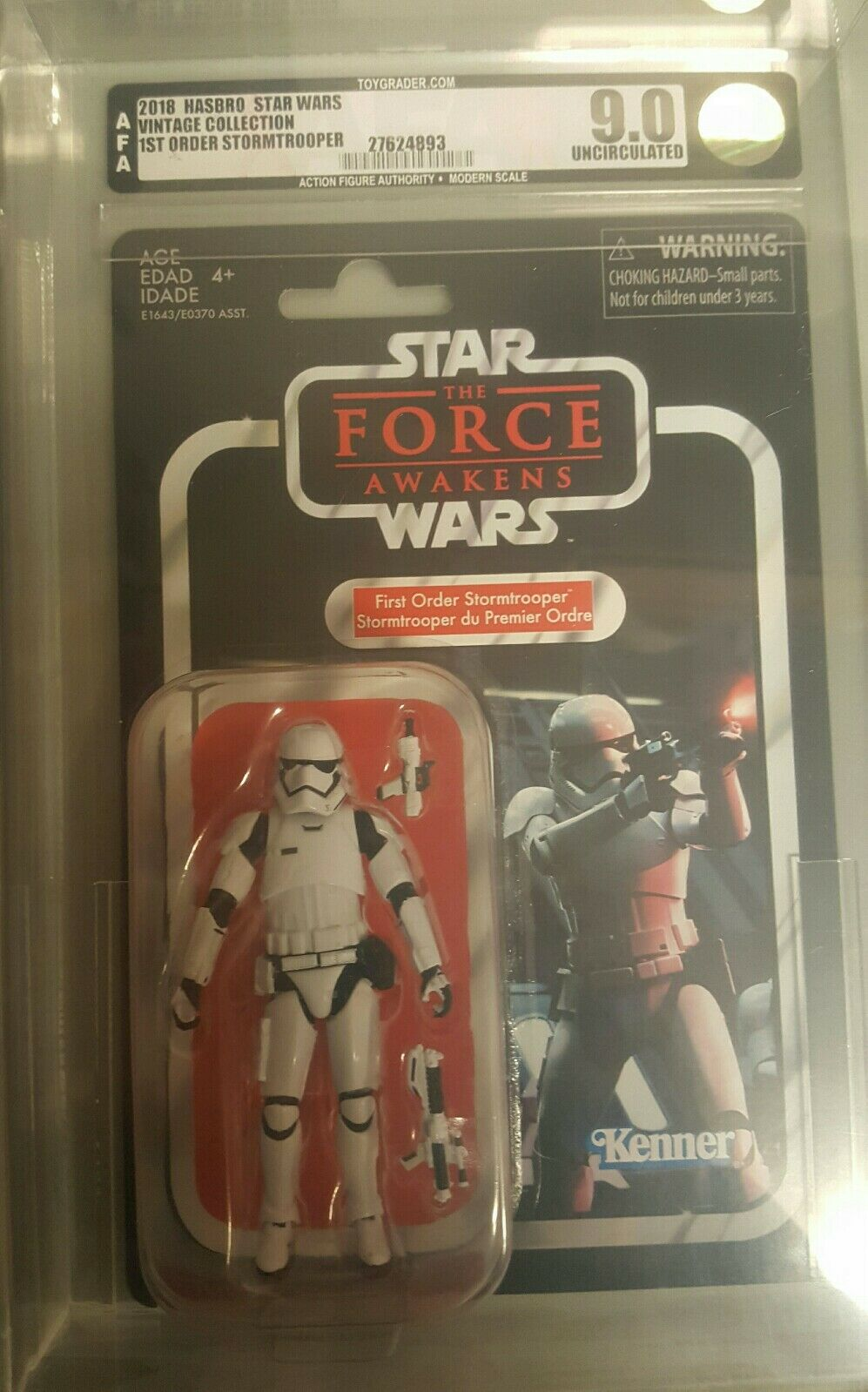 2018 Star Wars Vintage Collection AFA Graded 9.0 First Order Storm Trooper VC118