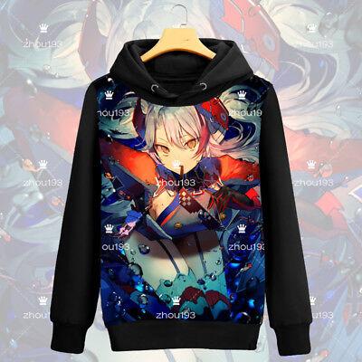 Anime Azur Lane Prinz Eugen Cosplay Zipper Hoodies Sweatshirts Unisex Warm Coat