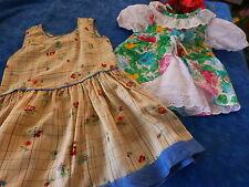 poupée-40cm ,bella ,raynal ,gégé ,vintage lot 2robes
