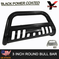 Fits 2016-2017 Toyota Tacoma 3 Black Bull Bar Grille Guard Push Front Bumber