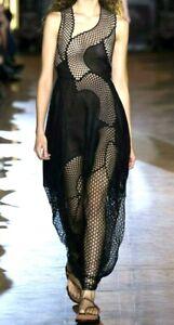 New-5-295-Stella-McCartney-Runway-Embroidered-Black-Maxi-Long-Dress-4-6-IT-42