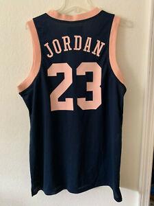 Anoi Carnicero Generalizar  Nike AIR Jordan 23 JUMPMAN AIR MESH Jersey Men Tank Top Pink Navy AR0026 |  eBay
