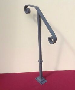 Image Is Loading Handrail Wrought Iron 1 2 Steps Steel Grab