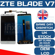 ZTE BLADE V7 LCD TOUCH WHITE SCREEN DIGITIZER OEM ORIGINAL DISPLAY WHITE