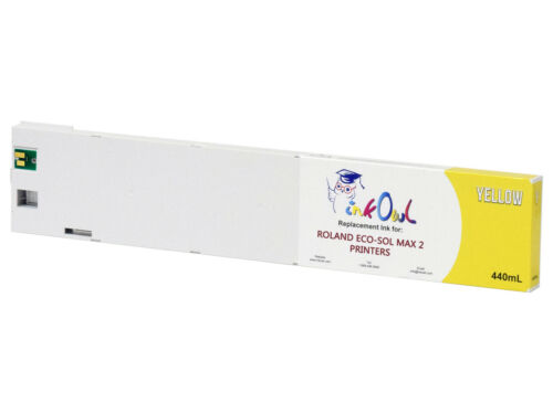 440ml InkOwl YELLOW Compatible Cartridge for Roland ECO-SOL MAX 2 ESL4-4YE