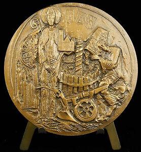 Medaille-l-039-Yonne-Bourgogne-le-vin-Saint-Pierre-1980-blasons-des-communes-medal