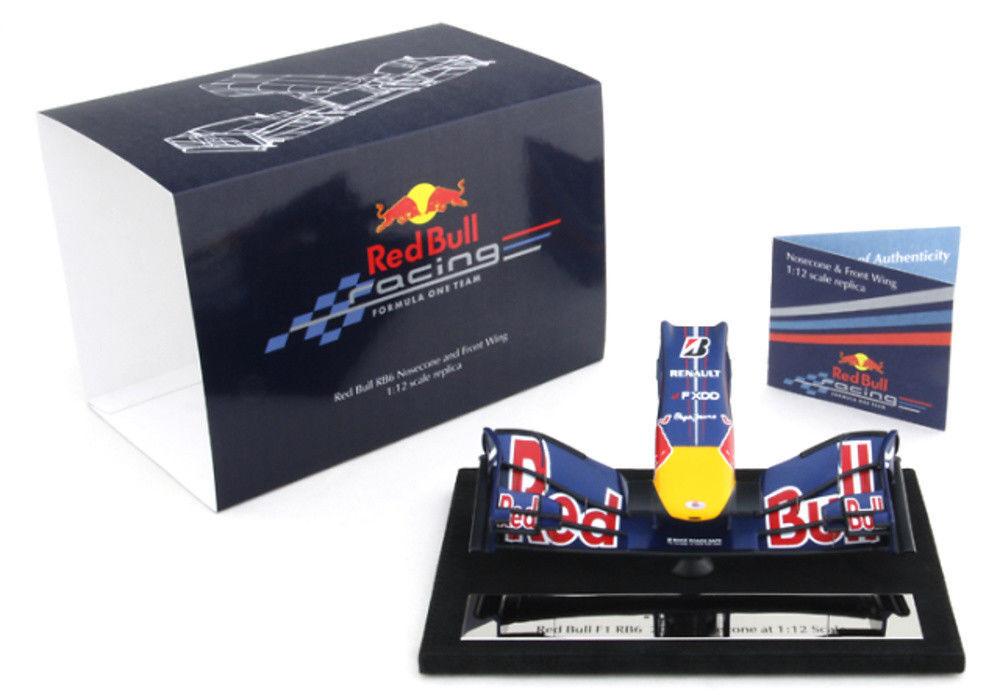 Amalgam 1 12 rouge Bull RB6 Vettel 2010 Nosecone Nez et aileron F1 Nose Cone