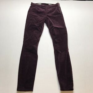 Gap-Purple-Plum-Velvet-Side-Zip-Legging-Skinny-Pants-Size-25-A932