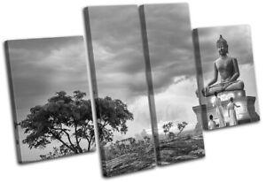 Buddha-Temple-Buddhist-Monk-Religion-MULTI-CANVAS-WALL-ART-Picture-Print