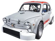 FIAT ABARTH 1000 TCR MATT GREY W/RED STRIPES 1:18 DIECAST MODEL BY AUTOART 72641