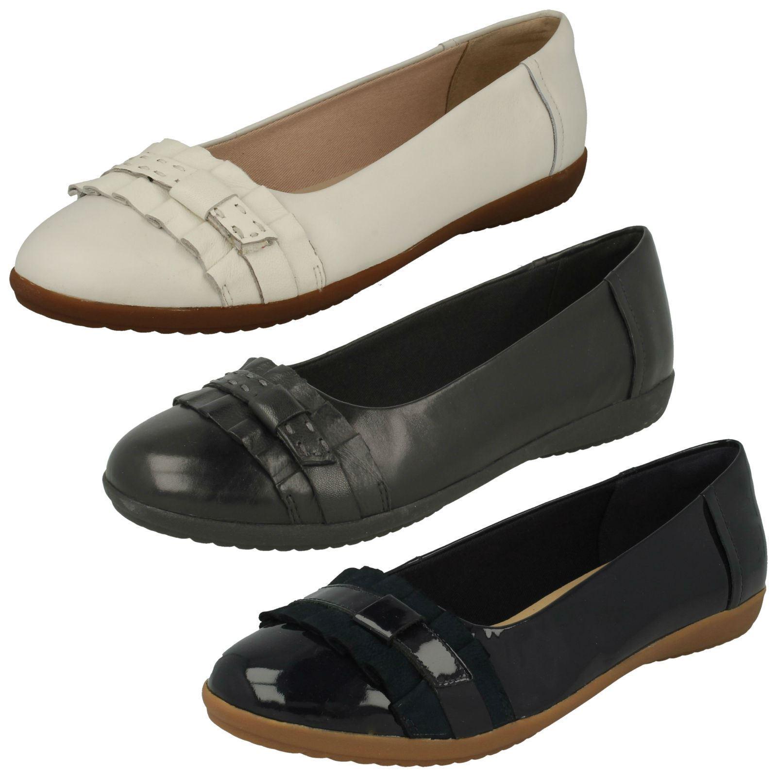 Zapatos de Cuero Damas Damas Damas Clarks Inteligente Sin Cordones Dolly  Feya isla   calidad oficial