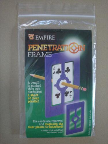 PENETRATION FRAME PENCIL THROUGH CARDS /& CLEAR PLASTIC SHEET EMPIRE MAGIC TRICKS