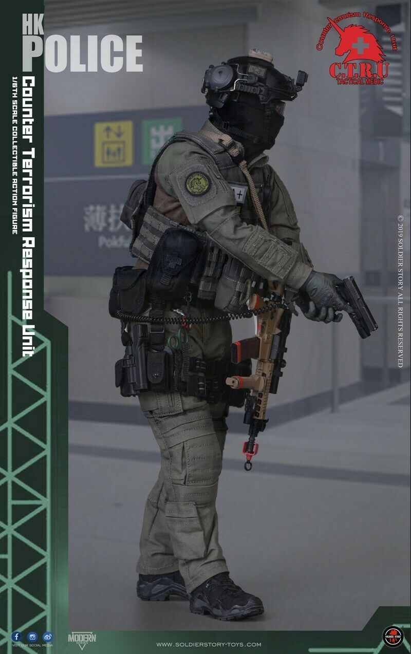 Soldier Story 1 1 1 6th Scale SS-116  HK POLICE - CTRU Tactical Medic Male Solider daa958
