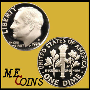 1978 S  Clad  Proof   Roosevelt  Dime   Great   Coin    Free   Shipping