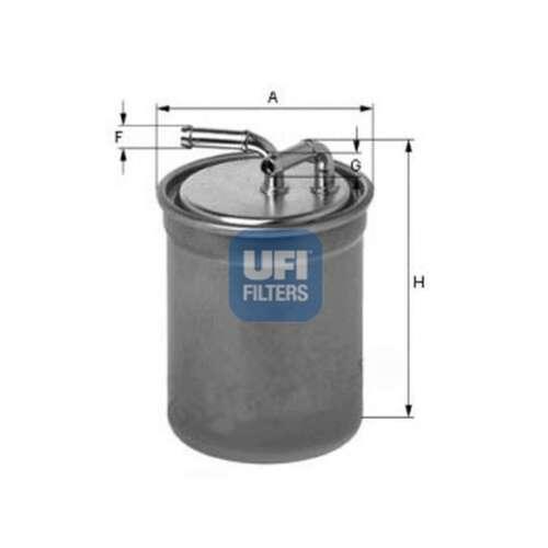 Fits Skoda RAPID 1.6 TDI Authentique UFI Filtre à carburant