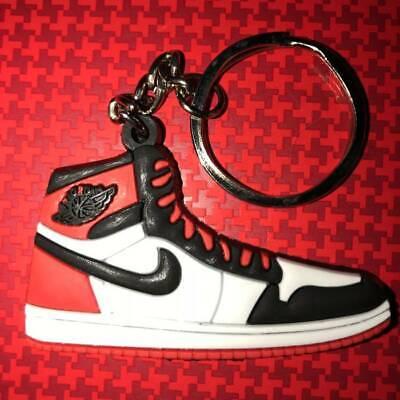 Nike Air Jordan Retro 1 High OG Keychain Chicago White Fire Red ...