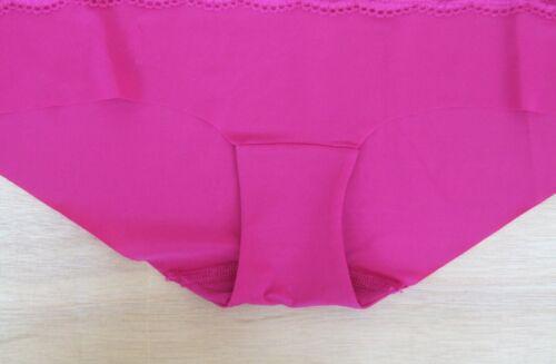 M /& S Size 12 NO VPL low rise short knickers panties briefs Dark Crimson