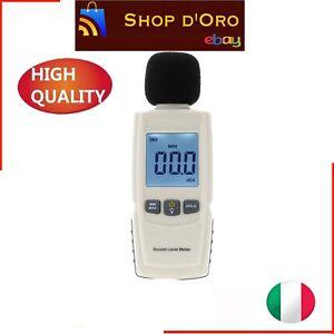 Fonometro Tale Misuratore Rumore Metro LCD Display Decibel 30-130dB Z7J6