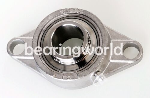 """SUCSFL205-14 High Quality 7//8/"""" Stainless Steel 2 Bolt Flange Bearing UCFL205-14"""
