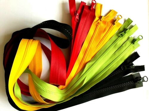 Two Way Zip Nylon//Chunky Plastic5//8//Waterproof Extra Long Size 50 To 100//130 cm