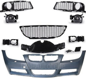 Front-M-Sport-Style-Bumper-With-Fog-Lights-No-PDC-For-BMW-3-Series-E90-E91