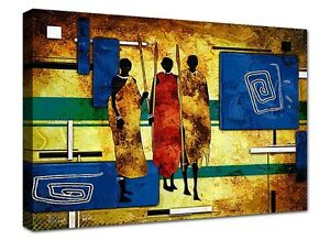 Quadro moderno cm 100x50 Stampa su tela 1 Pz Quadri Moderni  Etnico Africa 10
