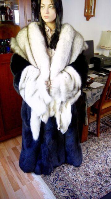 - 40% shadowfuchs 5-6 XL Fox Volpe Renard Fox Coat Fur Coat Fur