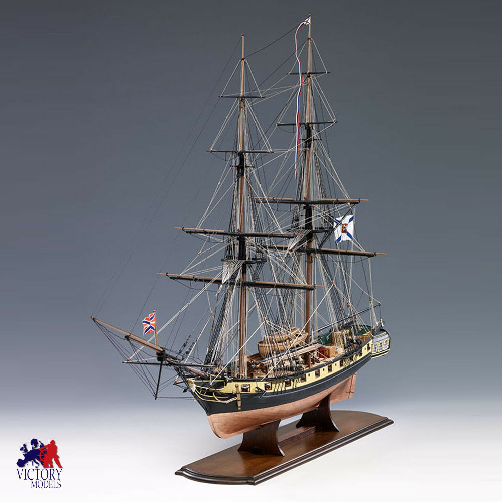Victory Models Mercury 1820 Russian 20 Gun Brig Wooden Model Ship Kit 1300 06