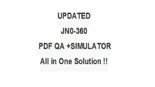 Juniper Networks Internet Specialis JNCIS-SP Test JN0-360 Exam QA PDF/&Simulator