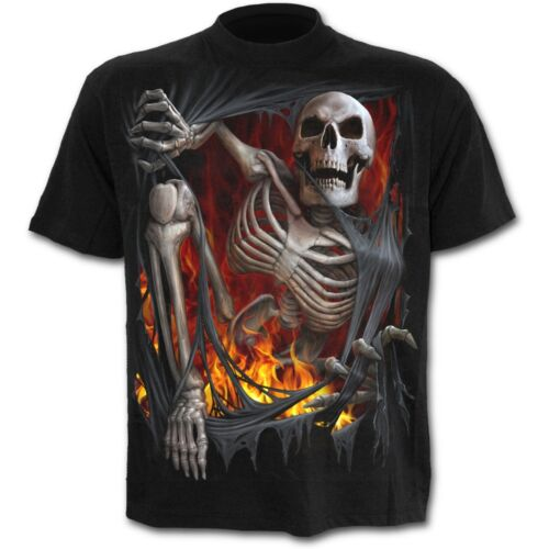 Spiral Direct DEATH RE-RIPPED Short Sleeve T-Shirt Goth Rock Biker Skulls