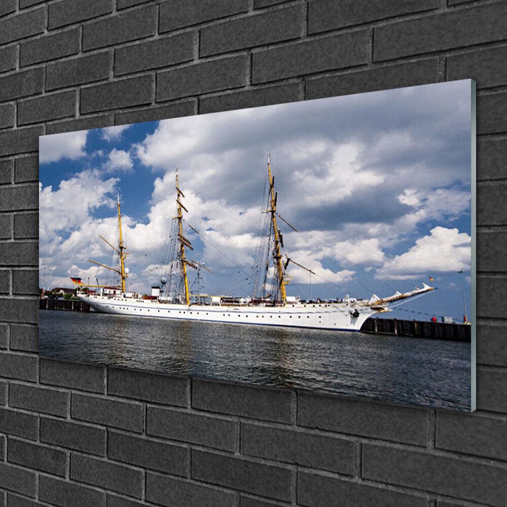 Image sur verre Tableau Impression 100x50 Paysage Eau Bateau