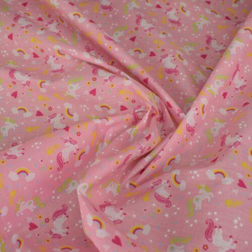 Unicorn Pink Polycotton Fabric