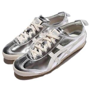 best service 3abab d2a4b Details about Asics Onitsuka Tiger Mexico 66 Patent Leather Silver Off  White Men THL7C2-9399