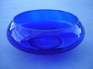 Crisa Cobalt Blue Bowl Centerpiece Decorative Glass Bowl Ebay