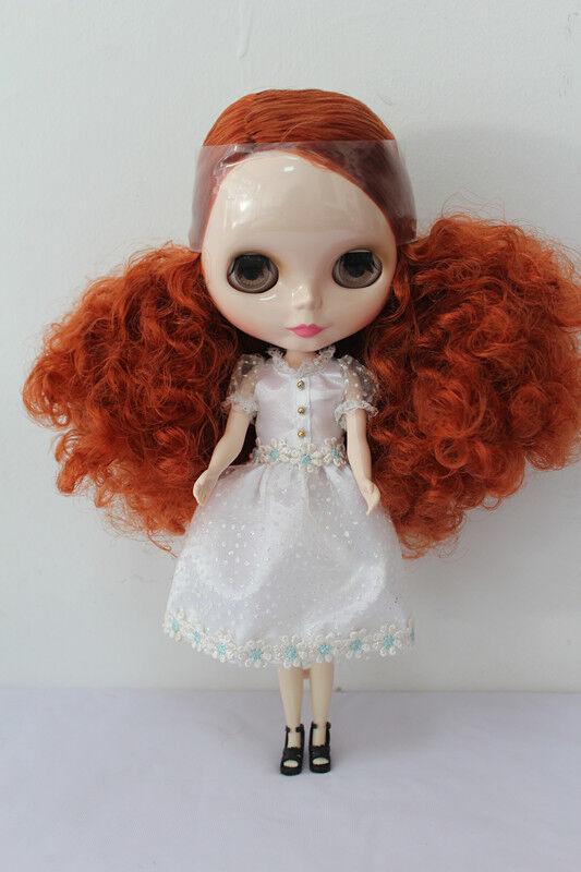12  Neo Blythe Doll desde la fábrica de cobre rojo desnuda muñeca pelo rizado