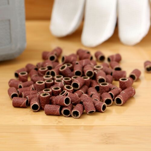"100X 1//4/""Sanding Brands for Nail Drill Manicure #80 Pedicure Bits W// 2 Mandrels"