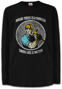 Where-There-Is-A-Worker-There-lies-a-nation-Kinder-Langarm-T-Shirt-Bauarbeiter