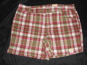 Arizona-Girls-Plaid-Shorts-Size-12-1-2-Plus-NWT