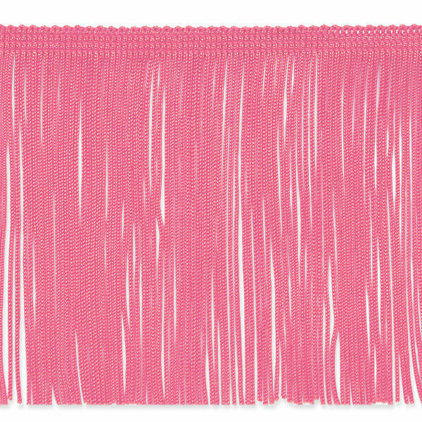 """By the yard-6/"""" LIGHT PINK Chainette Fabric Fringe Lampshade Lamp Costume Trim"""