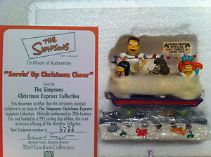 SIMPSONS-HAMILTON-SCULPTURE-SERVING-UP-CHRISTMAS-CHEER-CHRISTMAS-TRAIN-FIGURE