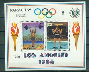 Paraguay-Block-388-Olympische-Spiele-1984