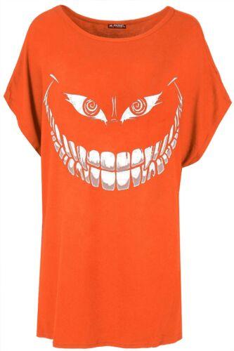 Da Donna Halloween T Shirt Donna Scheletro Ossa Costume Festa Tee Top