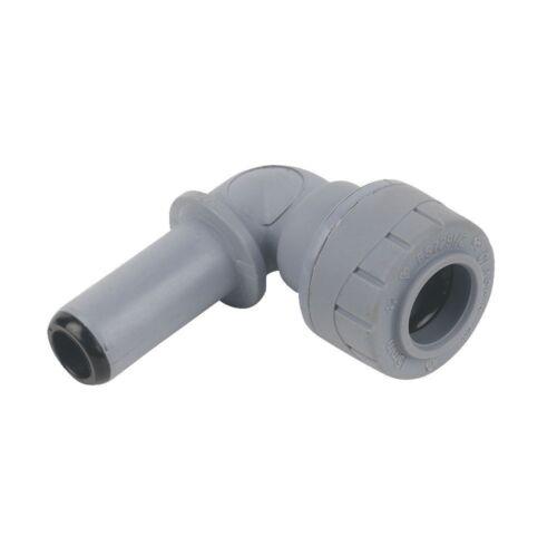 POLYPLUMB 90º SPIGOT ELBOW PUSH FIT SIZE 10 15 22 mm