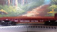 Lionel Flat Flatcar O Gauge O27 Wisconsin Central With Metal Wheels