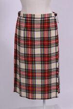 "Vtg 70s LAIRD PORTCH Scotland Tartan Plaid Wool Felt Kilt Skirt Sz M 29"" Waist"